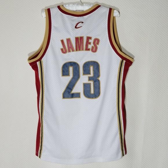 new product e6950 46150 NIKE LEBRON JAMES Cavaliers # 23 Sewn NBA Jersey